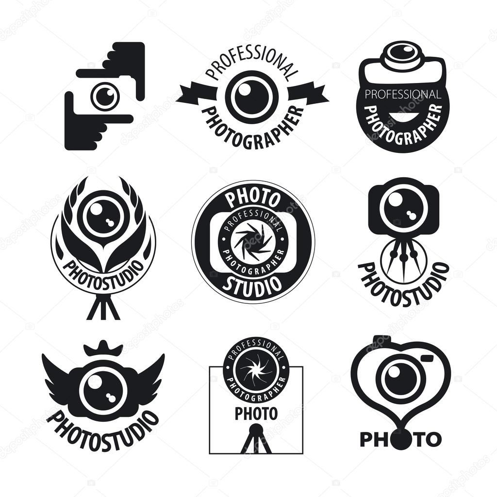 Vectores Para Fotografos Gran Conjunto De Logotipos Vectoriales