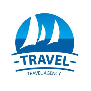 vector logo sailing yachts at sea