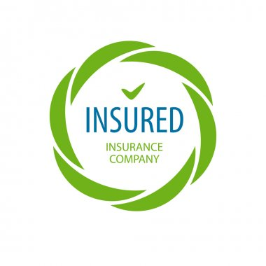 Abstract vector logo Insurance company