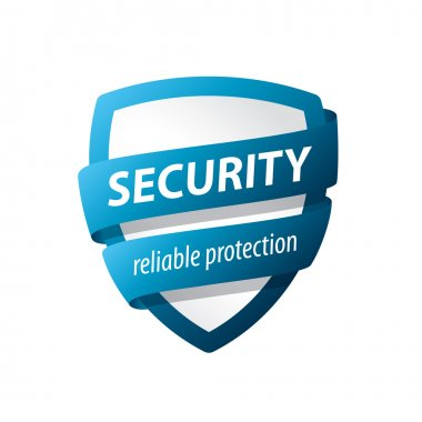 vector logo blue shield for protection