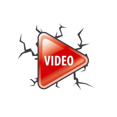 vector logo red button play