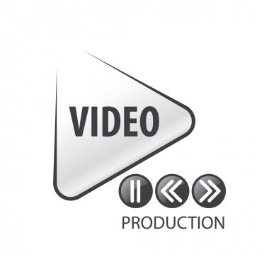 vector logo in the form of the play button