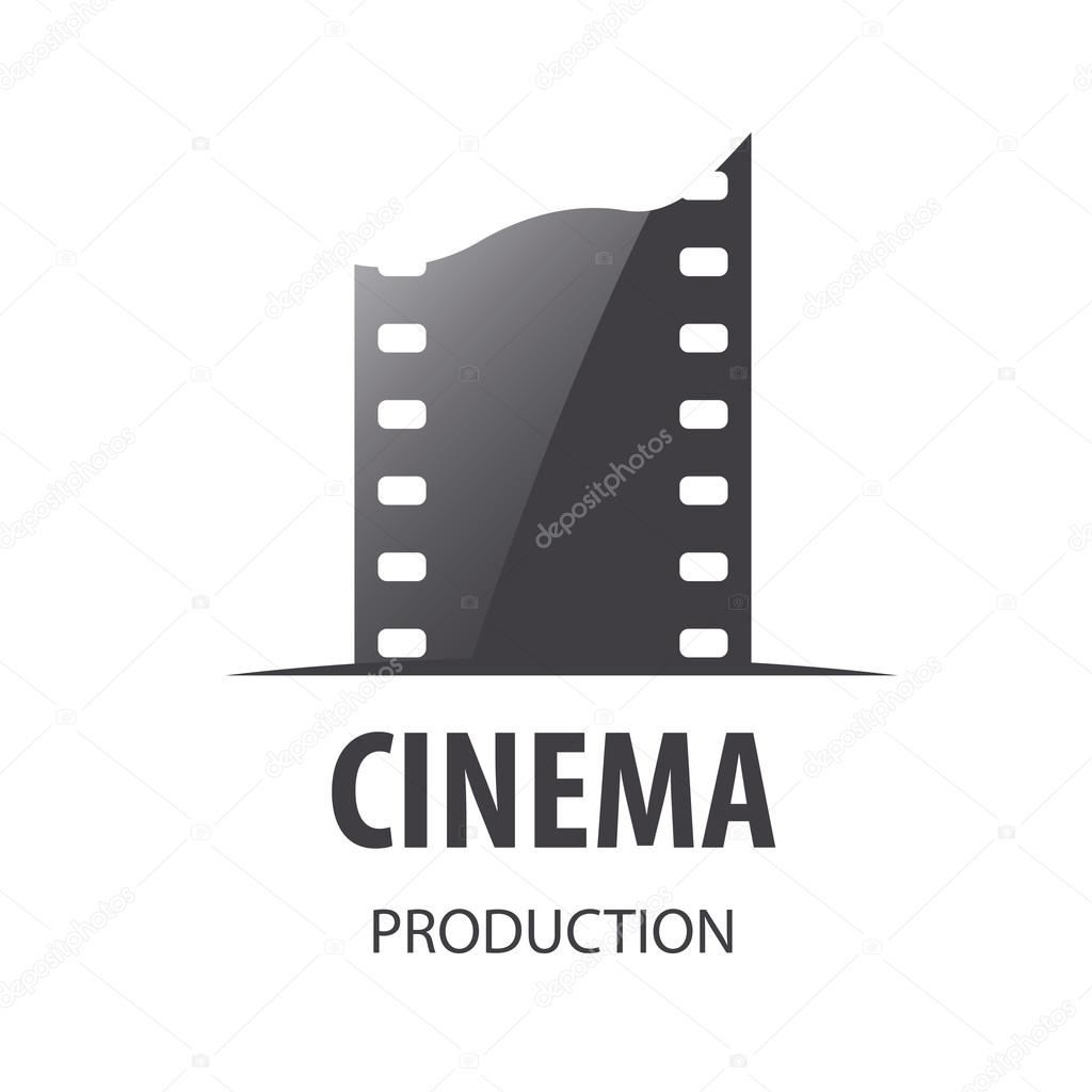 Vector logo for videotape film production stock vector