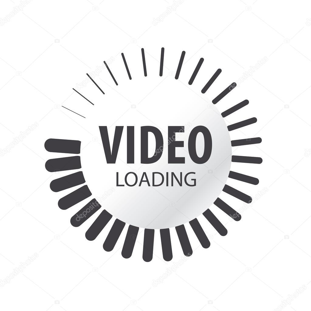 abstract vector logo video loading