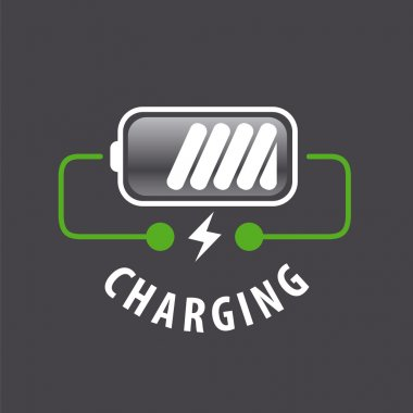 vector logo battery charger and lightning