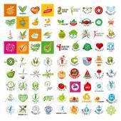 Grande insieme di logo vettoriale di un sano stile di vita