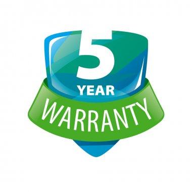 vector logo shield 5-year warranty