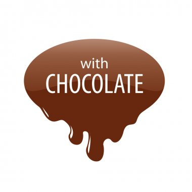 vector logo drops of melted chocolate