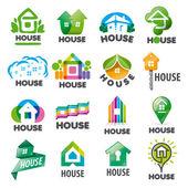 Fotografia large set of vector logos homes