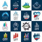 Fotografia grande set di città di loghi di vettore