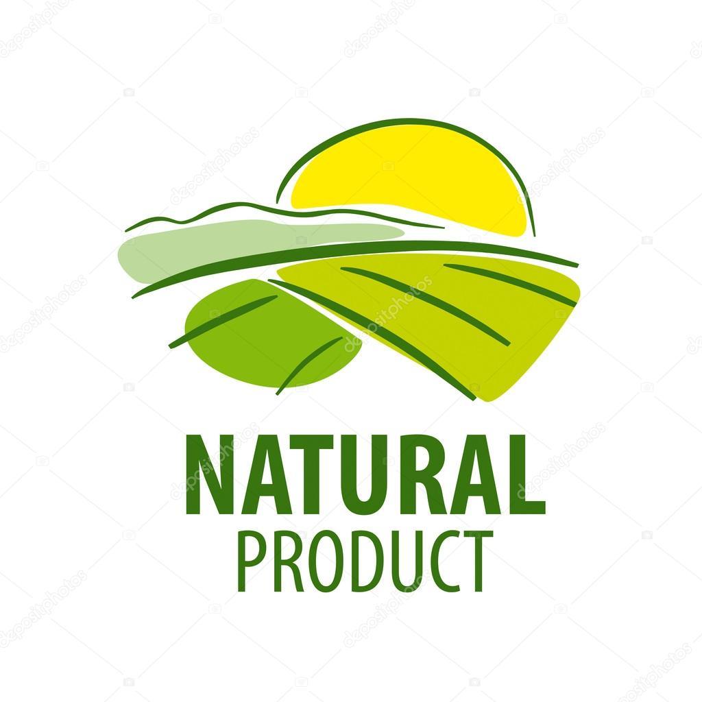 vector logo field landscape from farm