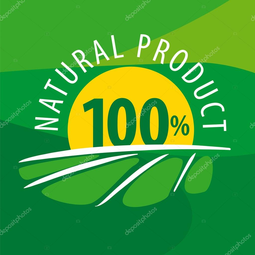 vector logo sun for 100% natural products