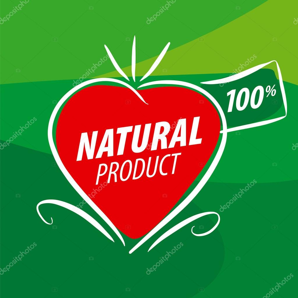 vector logo red vegetables in the shape of a heart for natural p