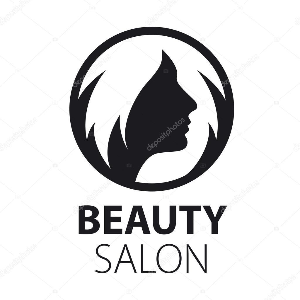 Round Vector Logo Women S Hairstyle Stock Vector C Artbutenkov