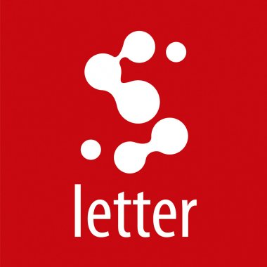 Abstract vector logo letter S from roundels