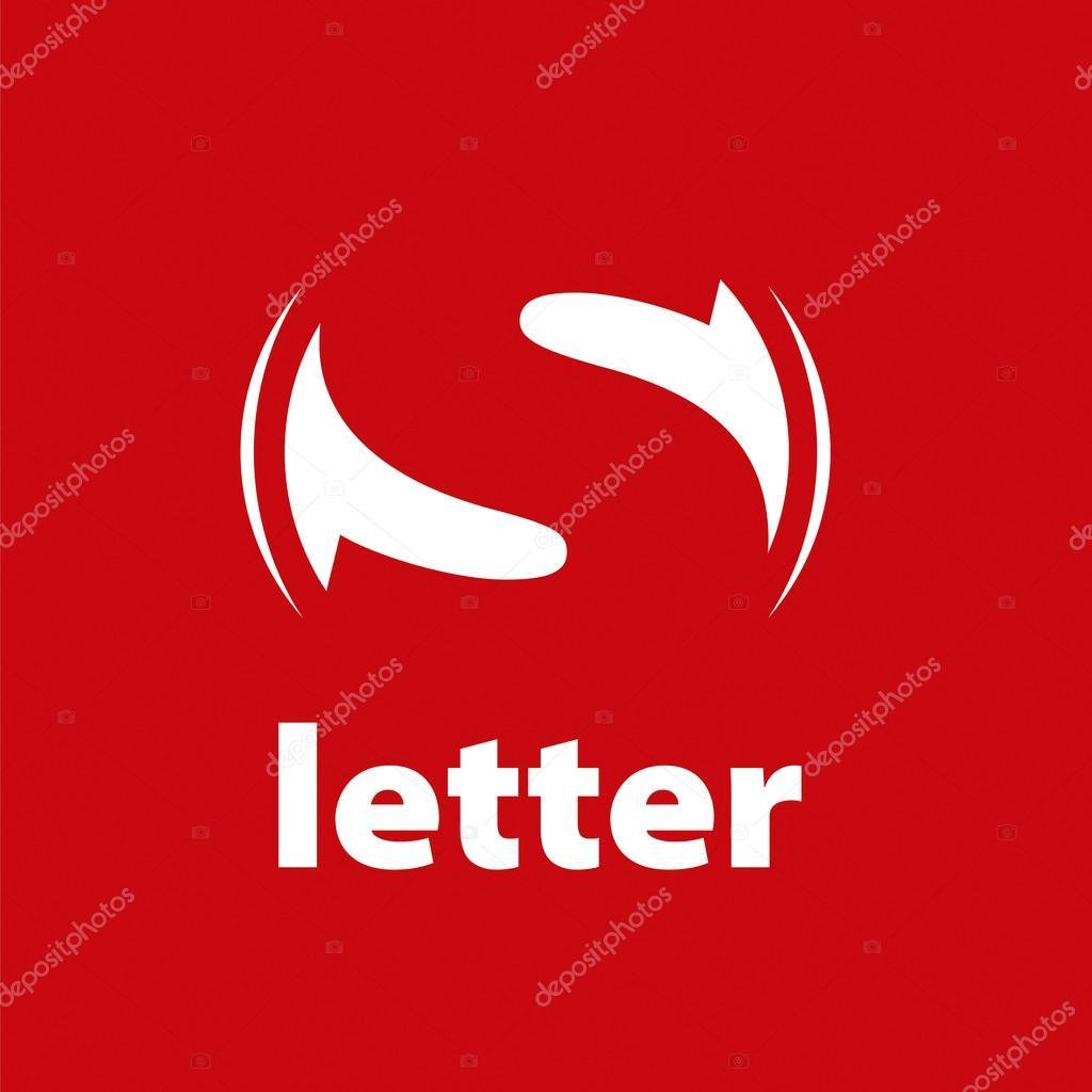 Lettera S Di Logo Su Sfondo Rosso Di Vettore Vettoriali Stock