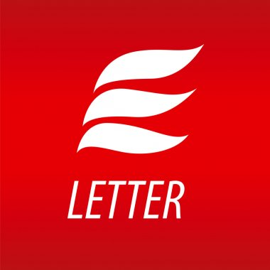 Abstract vector logo letter E in the form of petals