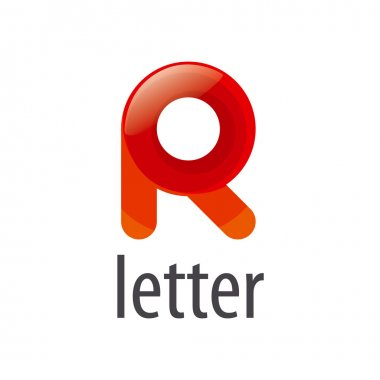 colorful abstract vector logo letter R