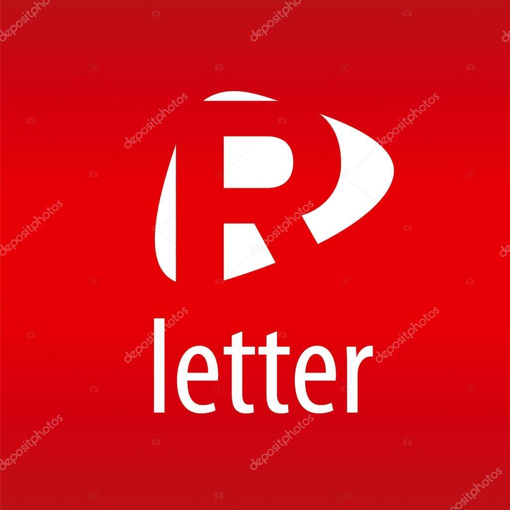 Vettore Logo Con R Rossa Astratto Vettoriale Logo Lettera R Su