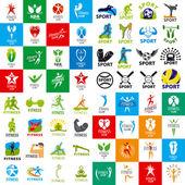 Fényképek sok olyan vektoros logók, sport-és fitness