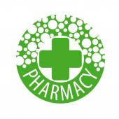 Fotografie Round vector logo with pills to pharmacies