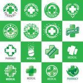 Fotografie a large set of vector logos for medicine
