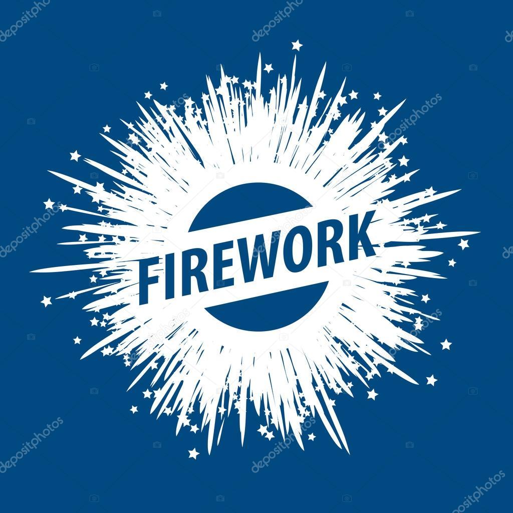 vector logo for fireworks stock vector artbutenkov 87793258 rh depositphotos com Fireworks No Background standard fireworks logo vector