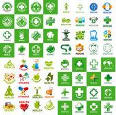 Fotografie biggest collection of vector logos for medicine