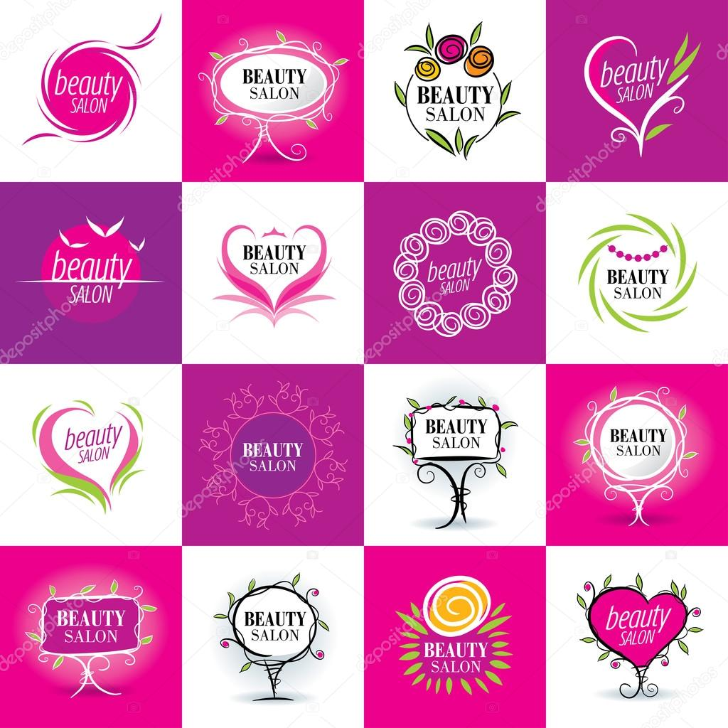 set of logos salons