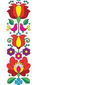 Fotografie Bezešvé Kalocsai výšivka - maďarského lidového umění květinovým vzorem