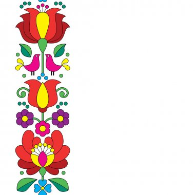 Seamless Kalocsai embroidery - Hungarian floral folk art pattern