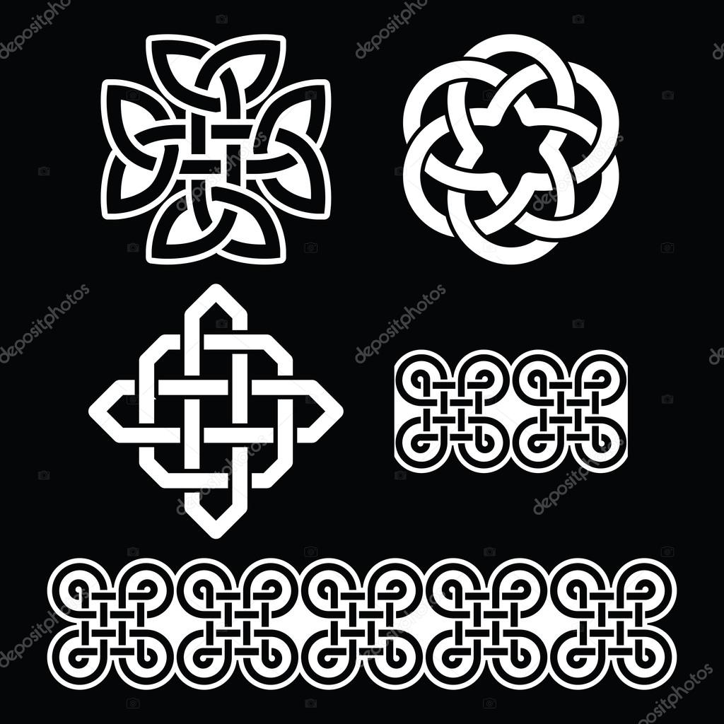Celtic Irish Patterns And Knots Stock Vector Redkoala 111413858