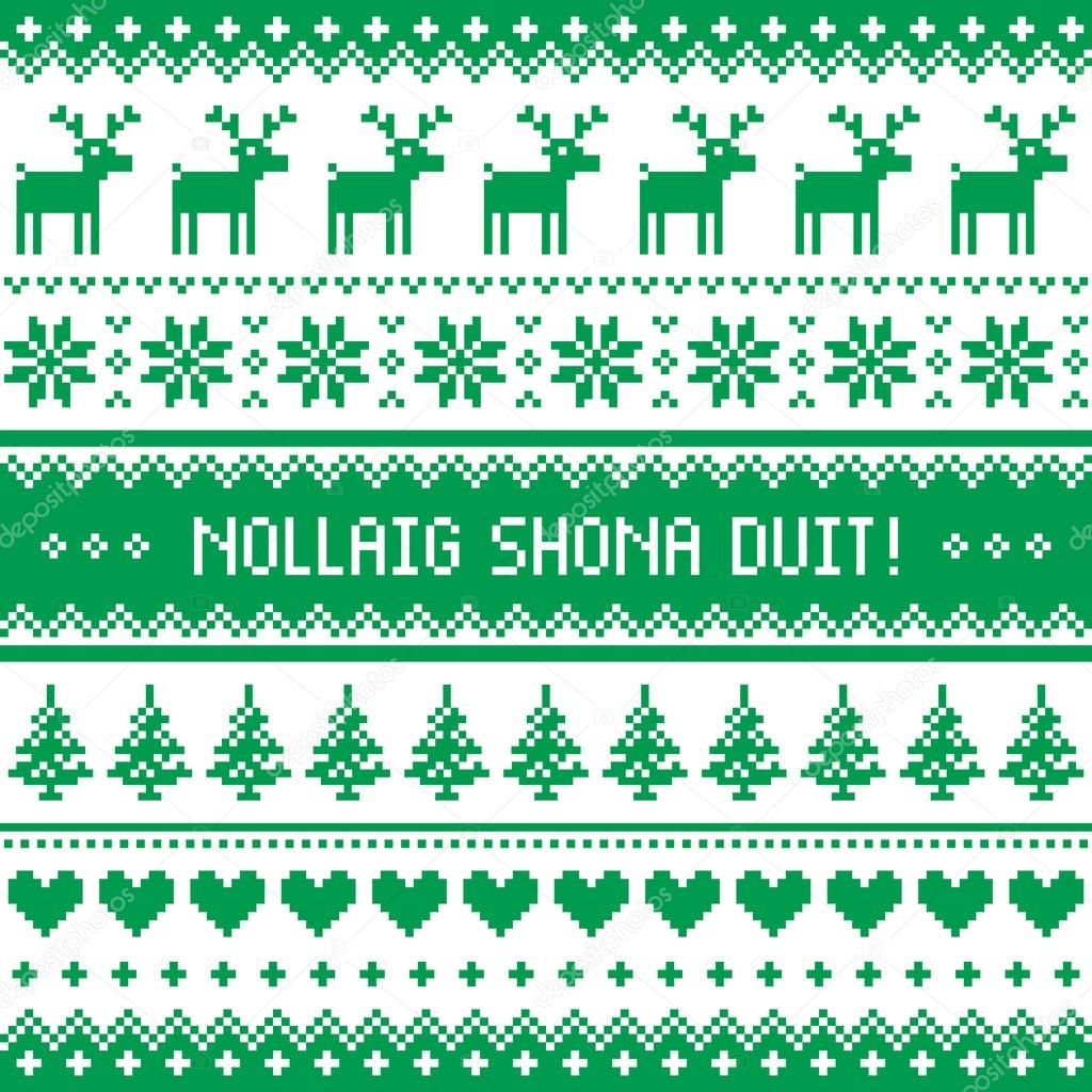 Nollaig shona duit merry christmas in irish pattern greetings nollaig shona duit merry christmas in irish pattern greetings card stock vector kristyandbryce Images
