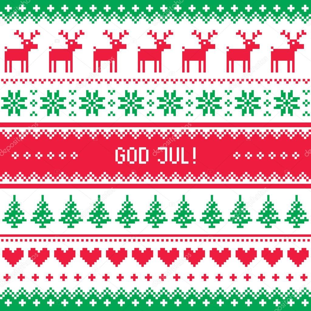 Frohe Weihnachten Schwedisch.Gott Jul Muster Frohe Weihnachten Schwedisch Danisch Und