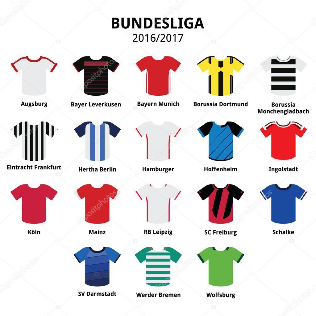 premium selection 99c0e 5419b Bundesliga Trikots 2016-2017, deutsche Fußball Liga Symbole ...