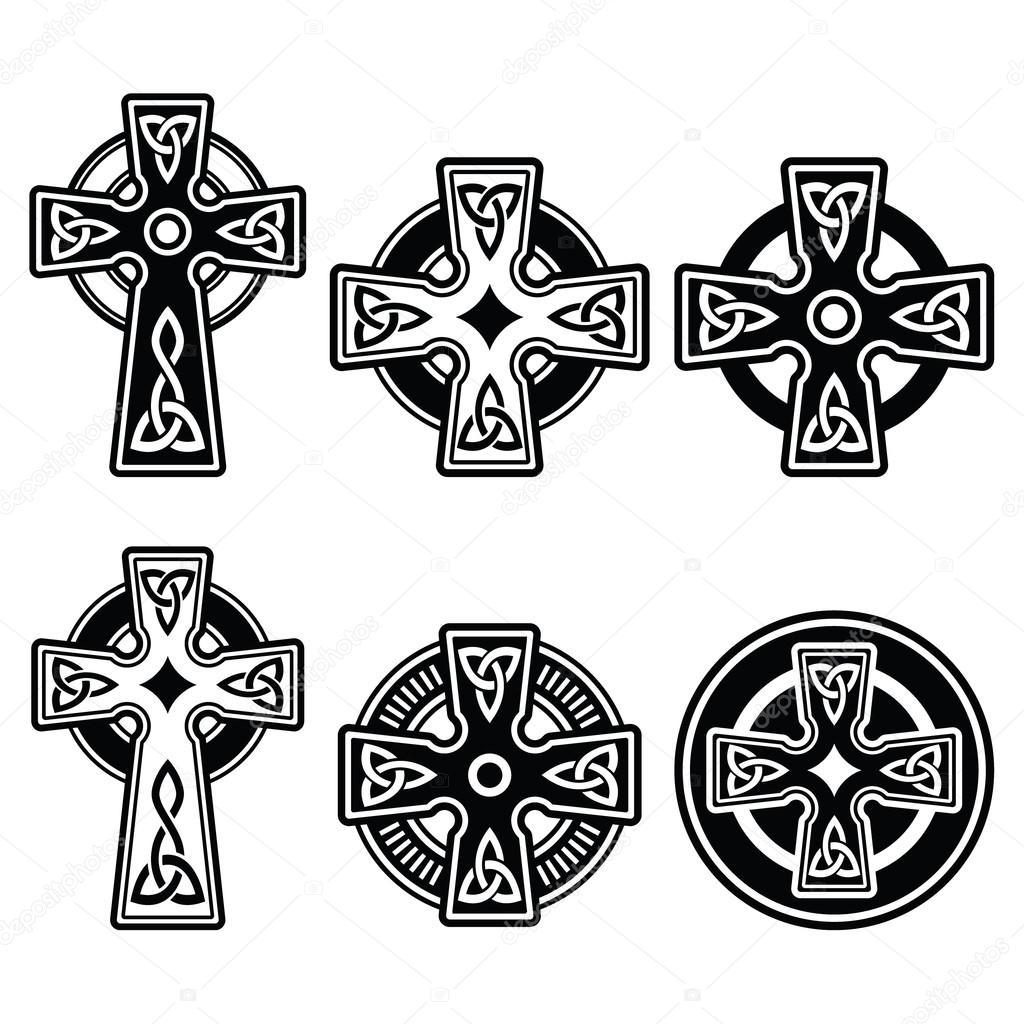 Irish Scottish Celtic Cross On White Vector Sign Stock Vector C Redkoala 58060991