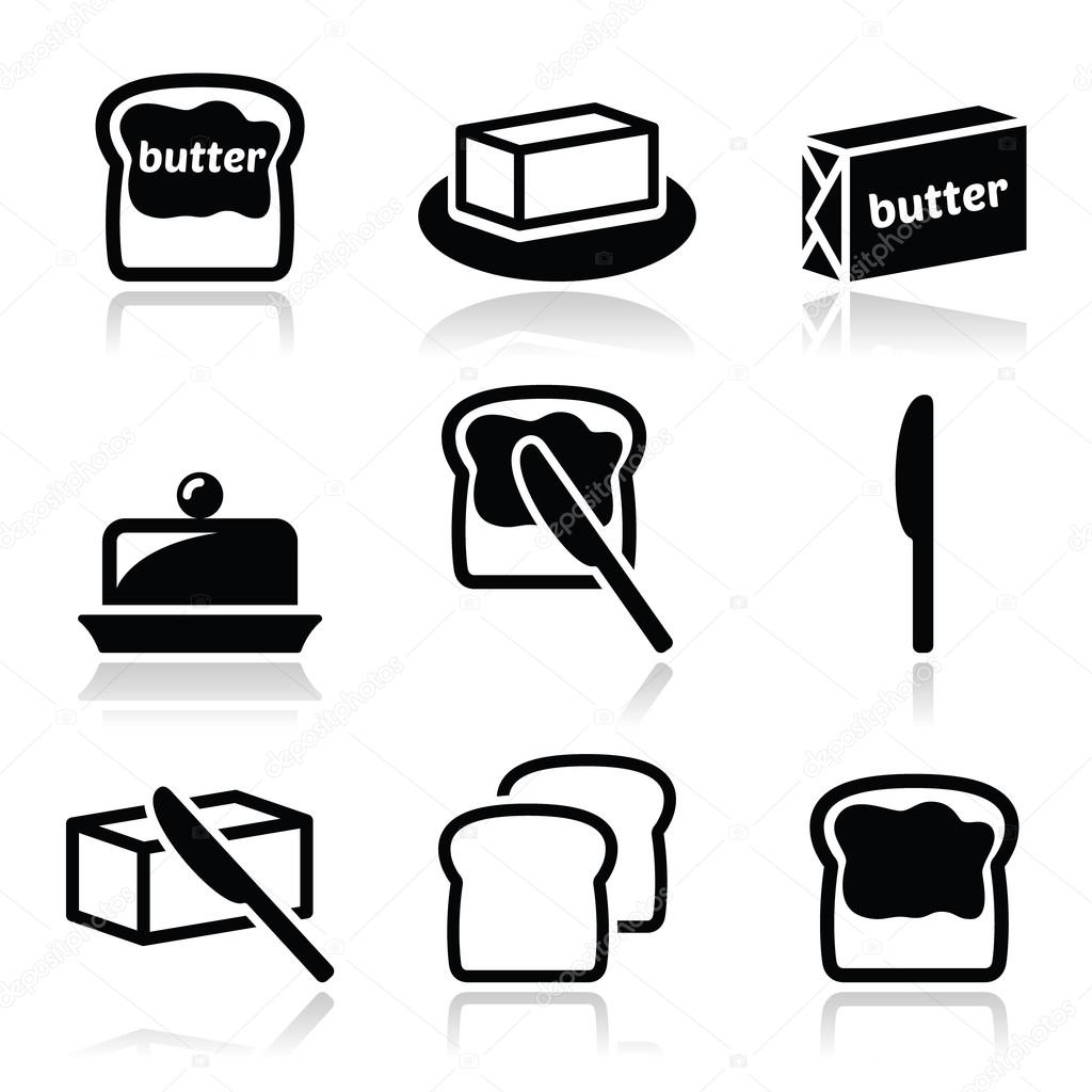 Butter or margarine vector icons set — Stock Vector ...