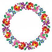 Kalocsai výšivky v kruhu - maďarská lidová květinovým vzorem