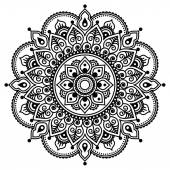 Fotografia Mehndi, reticolo del tatuaggio del hennè indiano o sfondo