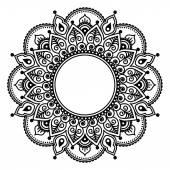 Fotografia Pizzo di Mehndi, tatuaggio hennè indiano tondo disegno o modello