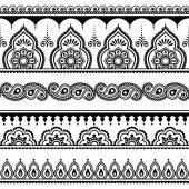 Fotografia Mehndi, Indian hennè tatuaggio senza cuciture, elementi di design