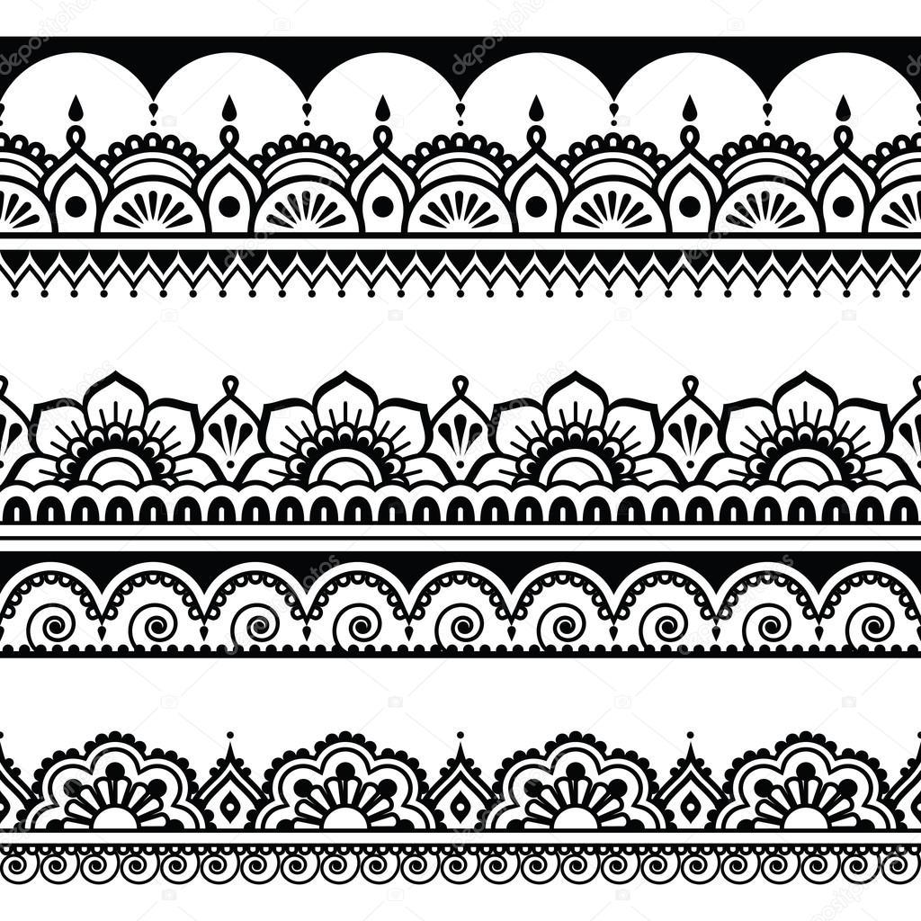 Indio de patrones sin fisuras, elementos de diseño - estilo del ...