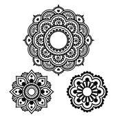 Fotografia tatuaggio del hennè indiano rotondo design - modello di mehndi