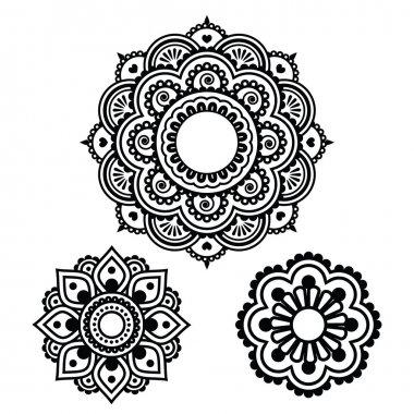 Indian Henna tattoo round design - Mehndi pattern