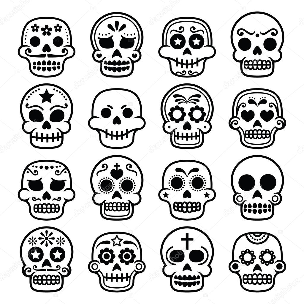 Dibujos Calaveras Mexicanas Halloween Calavera De Azúcar
