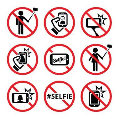 No selfie red warning signs