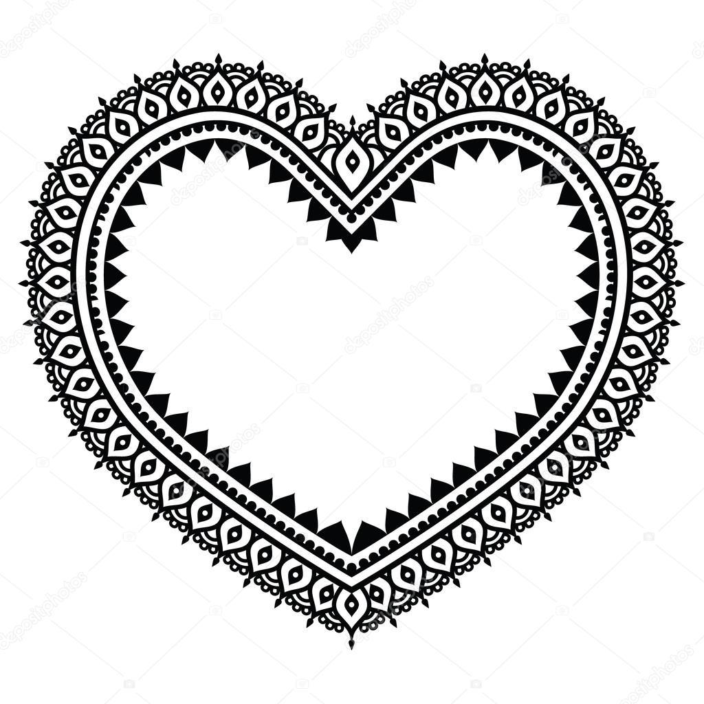 motif de tatouage de coeur