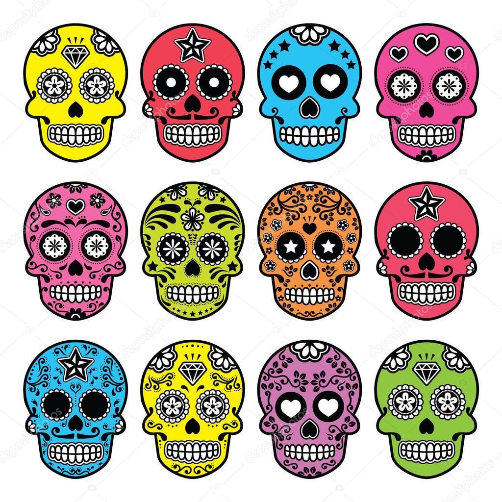 Calavera De Azúcar Mexicana De Halloween Dia De Los Muertos Juego