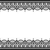 Fotografia Mehndi, indiano Henna tattoo design - cartolina dauguri, ornamento di pizzo