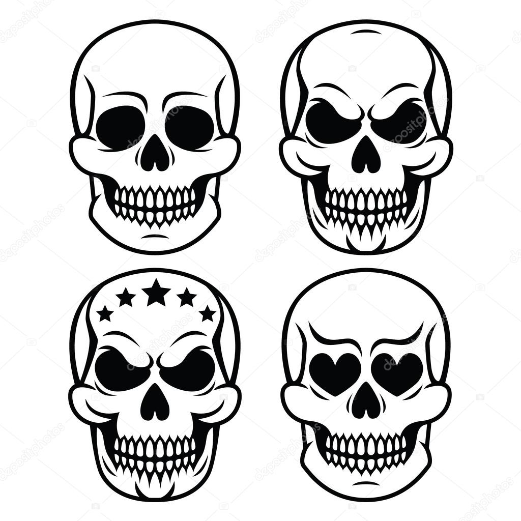 Diseño de cráneo humano de Halloween - muerte, día de los muertos ...